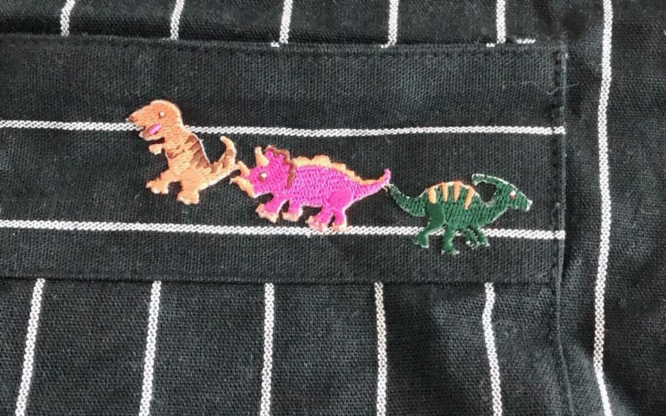 恐竜のワッペン